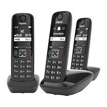 Siemens Pack trio téléphone sans fil Gigaset AS690 - noir