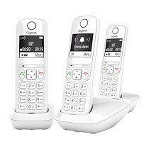 Siemens Pack trio téléphone sans fil Gigaset AS690 - blanc