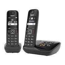 Siemens Pack duo téléphone répondeur sans fil Gigaset AS690A - noir