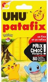Uhu Pâtes adhésives patafix 'Pokémon', jaune - Lot de 5