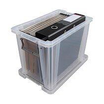 Allstore Boîte de rangement plastique 18,5 L incolore