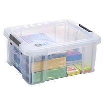 Allstore Boîte de rangement plastique 24 L incolore