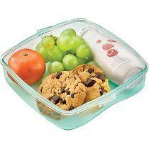 Maped PICNIK Boîte à goûter ORIGINS LUNCH-BOX, 0,52 l, bleu - Lot de 4