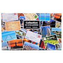 Exacompta Classeur de collection imprimé format horizontal pour 400 cartes postales - 44x26,5 cm - Visuel - Lot de 4