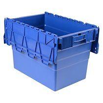 Viso Bac de stockage navette avec couvercle en plastique bleu - 78 litres