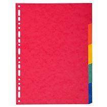 Exacompta Intercalaires carte 220g 5 positions - A4 maxi - Lot de 50