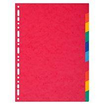 Exacompta Intercalaires carte 220g 10 positions - A4 maxi - Lot de 25