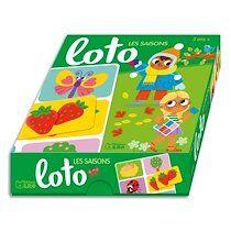 Jeu de loto sur les saisons, boîte solide, 1 planche de 6 images par saison, dès 3 ans - Lot de 2