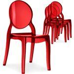 menzzo  MENZZO Lot de 4 chaises médaillon Diva Plexi Transparent Rouge... par LeGuide.com Publicité