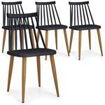 Lot de 4 chaises scandinaves Houlgate Noir Chaises design pieds métal... par LeGuide.com Publicité
