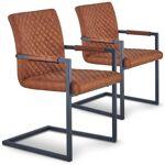 menzzo  MENZZO Lot de 2 chaises matelassées kansas Tissu Marron Vieilli... par LeGuide.com Publicité