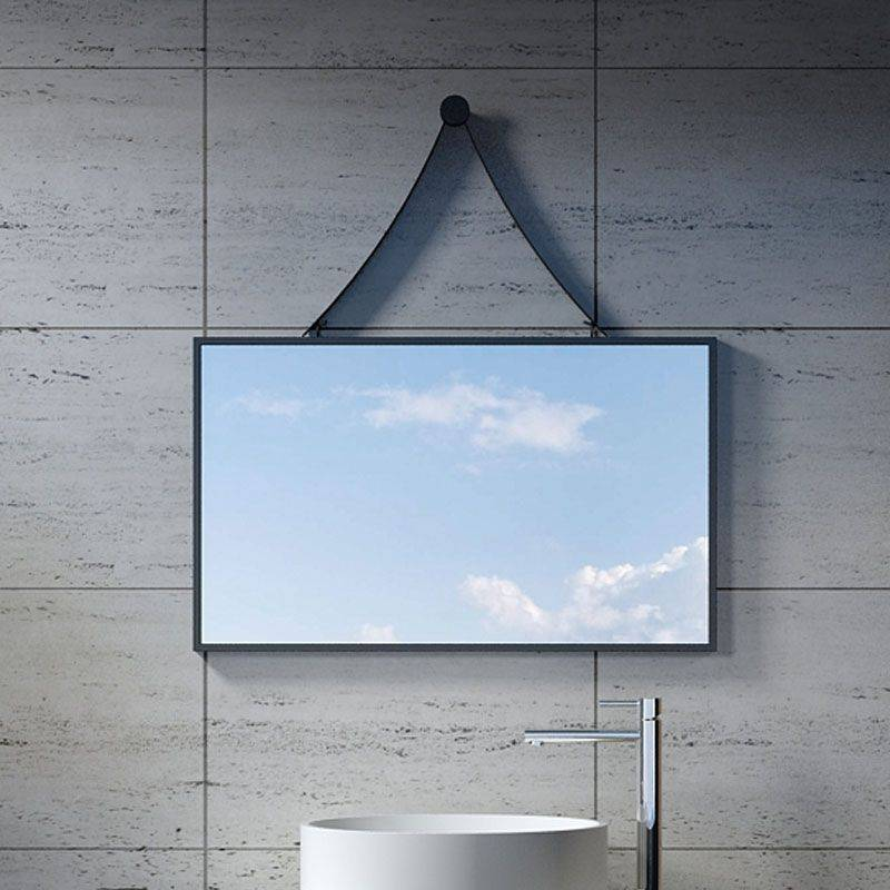 Distribain Miroir Rectangulaire avec contour noir SDVM8045