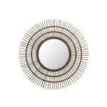 Tousmesmeubles Miroir soleil rond Rotin marron - MEZEN - L 120 x l 3... par LeGuide.com Publicité