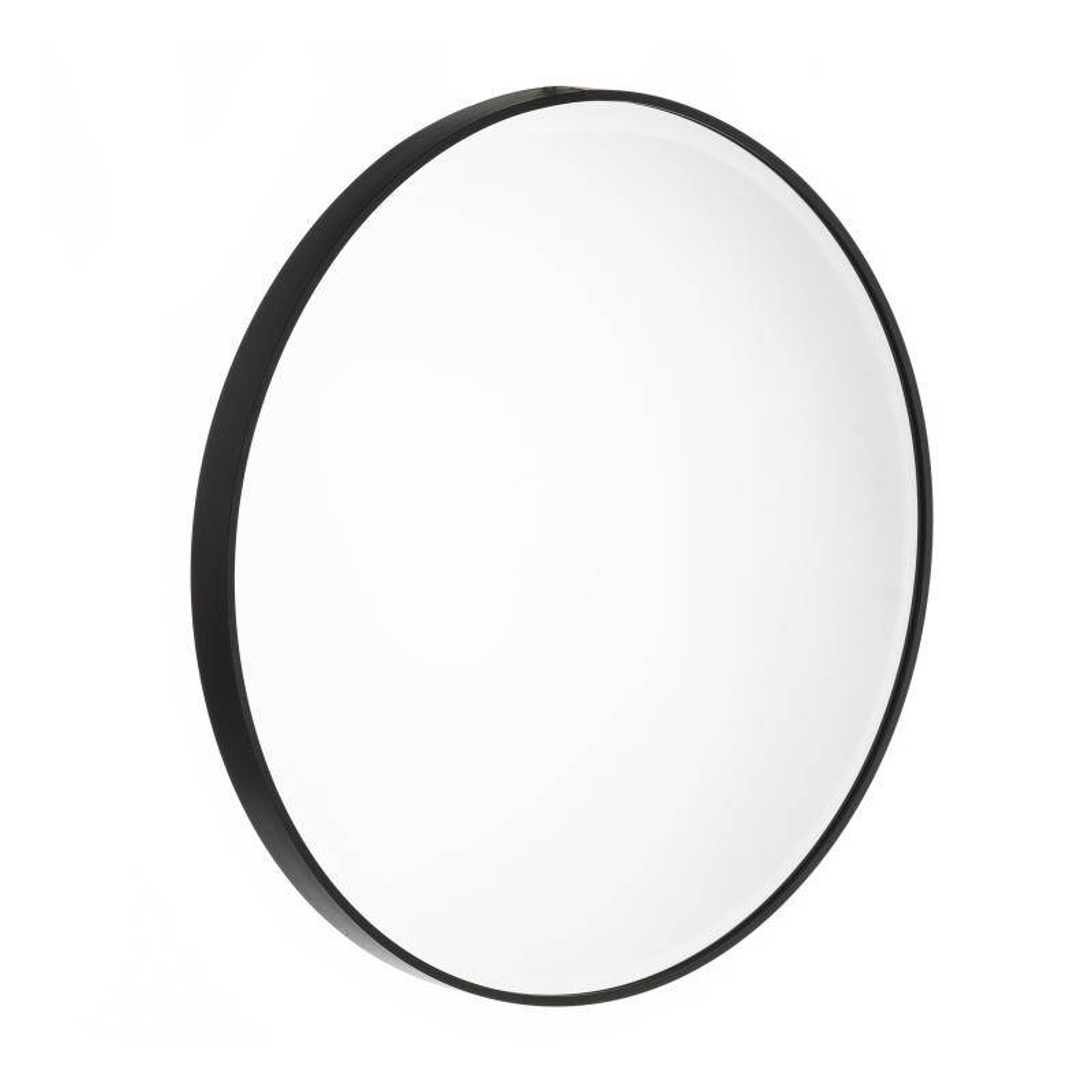 Tousmesmeubles Miroir rond Métal noir taille L - KANSAS - L 60 x l 4 x H 60