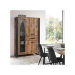 Tousmesmeubles Vaisselier 3 portes 1 tiroir effet Bois tropical - BRUNO... par LeGuide.com Publicité