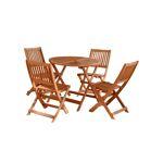 Tousmesmeubles Salon de jardin - Ensemble Table & Chaises en Bois... par LeGuide.com Publicité