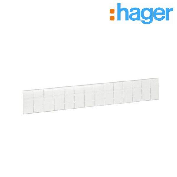HAGER Bande marquage protégée pour Gala/Volta 14 modules - HAGER VZ604