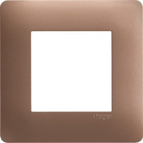 HAGER ess. Plq 1 p. Bronze HAGER WE461
