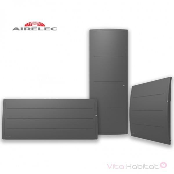 AIRELEC Radiateur Fonte AIRELEC - ADEOS Smart ECOControl 1000W Vertical Gris Anthracite - A693643
