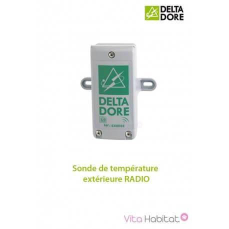 DELTA DORE Sonde de température extérieure RADIO - DeltaDore 6300036