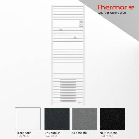 THERMOR Sèche-serviettes électrique 1750W (750W+1000W) RIVA 4 soufflant - THERMOR