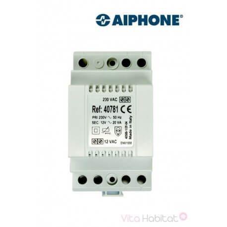 AIPHONE Alimentation 40781 - 230 Vac / 12 Vac - 1.5 A pour kit vidéo AIPHONE - 100086