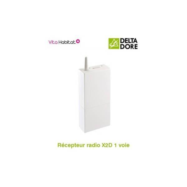 DELTA DORE RF 642 Récepteur radio X2D 1 voie - 16A - DeltaDore - 6351037