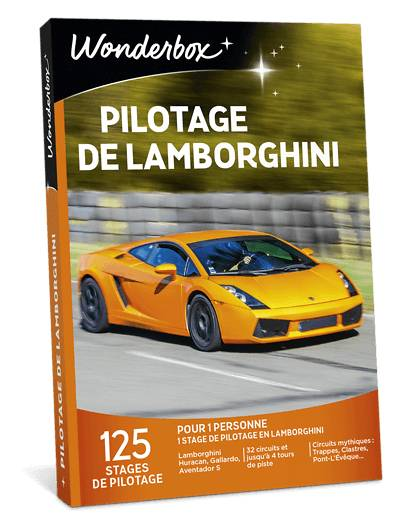 Wonderbox Coffret cadeau Pilotage de Lamborghini - Wonderbox
