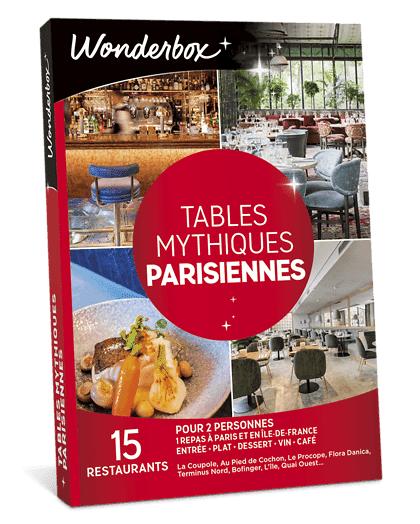 Wonderbox Coffret cadeau Tables mythiques parisiennes - Wonderbox