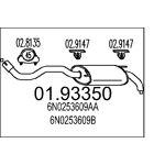 mts  MTS Silencieux Déchappement VW 01.93350 6N0253609AA,6N0253609B,6N0253609G... par LeGuide.com Publicité