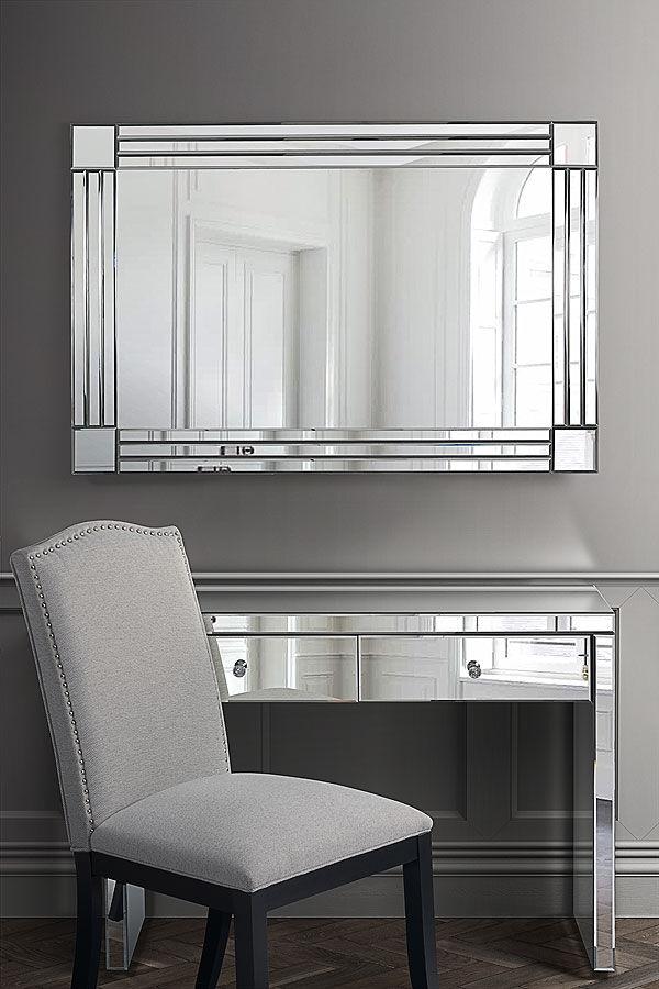 My-Furniture Grand miroir mural rectangulaire STREAM