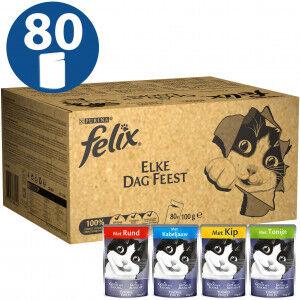 Felix Tendres Effilés en gelée Jumbopack (80 pièces) Par boîte (80 pièces)