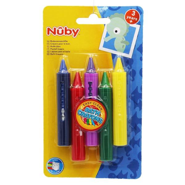 Nuby Crayons Pour Le Bain +3ans 6 unités