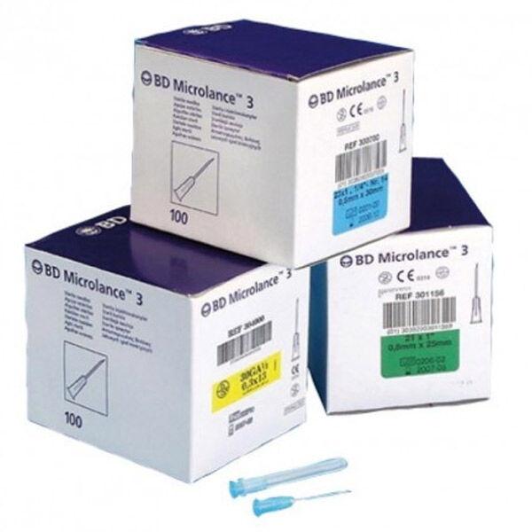 Becton Dickinson BD Microlance 3 Aiguille Hypodermique BN - 25mm - 19G - Crème - 1 Unité