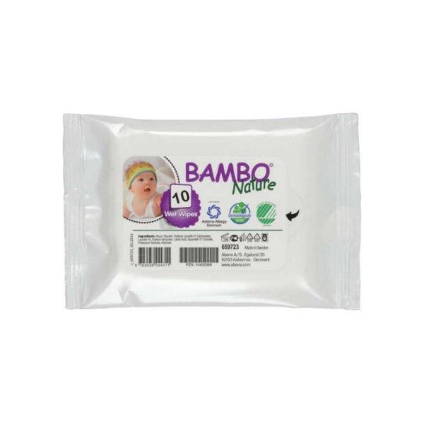 Bambo Nature Lingettes Bébé Sans Parfum Format Voyage 10 unités