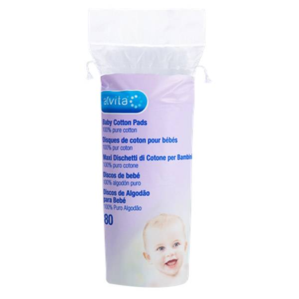Alvita Disque de Coton pour Bébés 80 unités