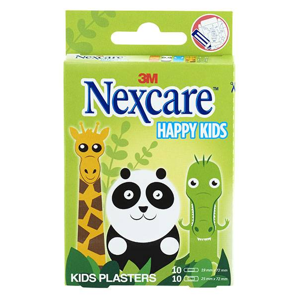 Nexcare 3M Nexcare Happy Kids Animaux 20 pansements