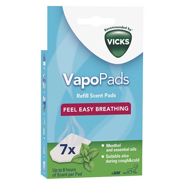 Vicks VapoPads Tablettes Menthe +36m 7 unités