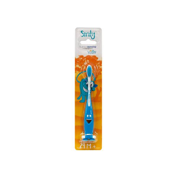 SuperWhite Kids Smily Brosse à Dents 2 à 6 ans Bleue