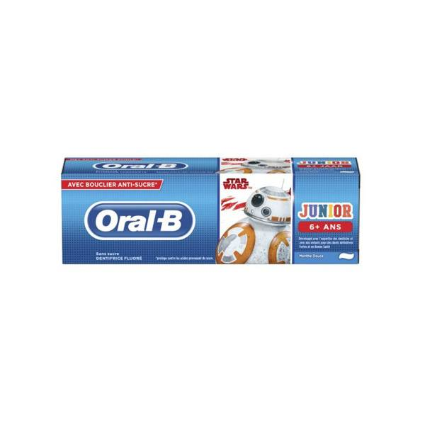 Oral B Dentifrice Junior Star Wars +6 ans Menthe Douce 75ml
