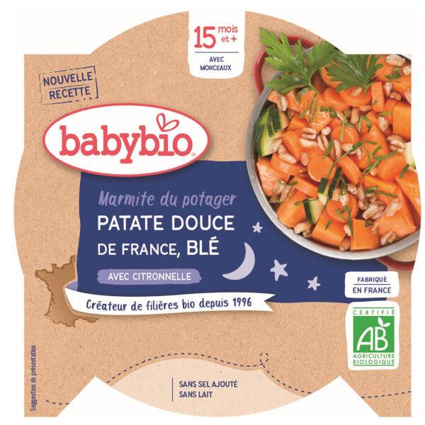 Babybio Bonne Nuit Assiette Marmite Patate Douce +15m Bio 260g