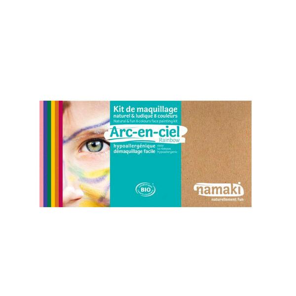 Namaki Kit de Maquillage Bio Enfant Arc-en-Ciel 8 couleurs