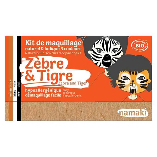 Namaki Kit de Maquillage Zèbre & Tigre 3 couleurs
