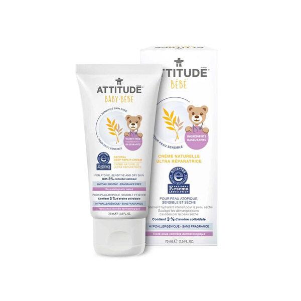 Attitude Bébé Crème Ultra Réparatrice Peau Sensible et Atopique NEA 75ml