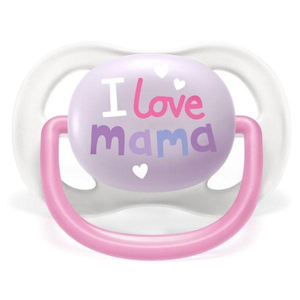 Avent Sucette Symétrique Ultra Air +0m Love Mama Rose Lot de 2