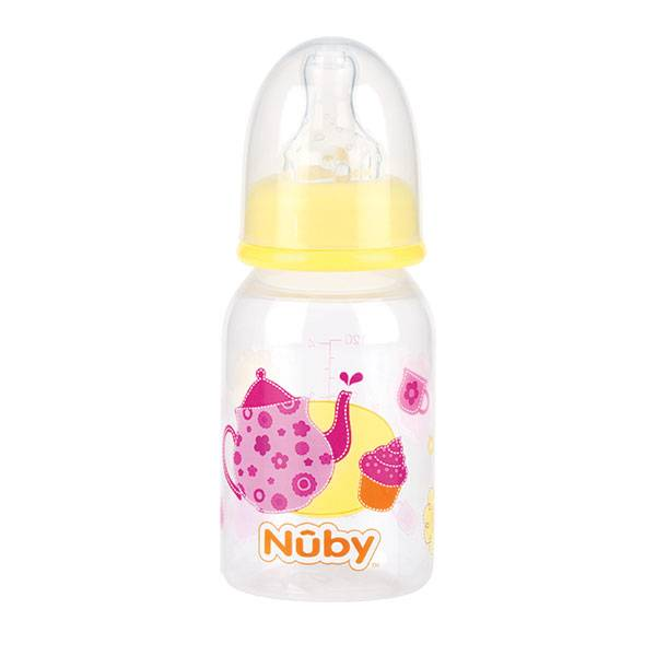 Nuby Biberon PP Débit Lent Théière Rose 0-12m 120ml