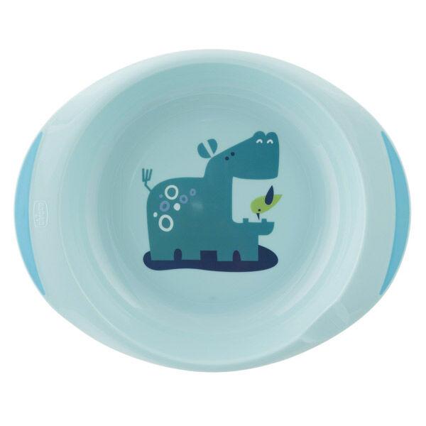 Chicco Ensemble Assiette Plate et Creuse Décorée Bleu +12m 2 pièces