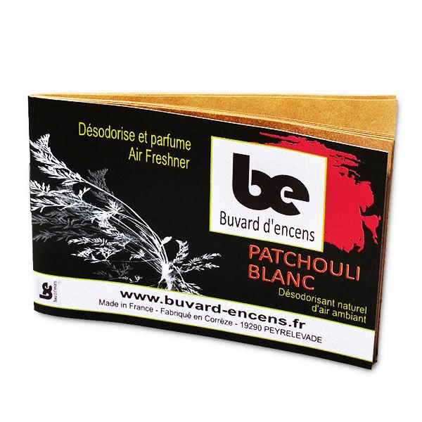Buvard d'Encens Patchouli Blanc 1 carnet