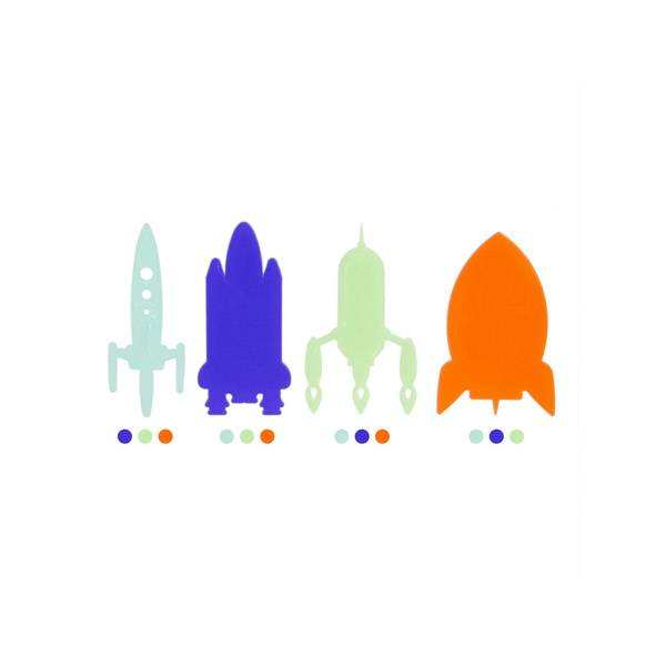 Décoration Phosphorescente x16 Fusées