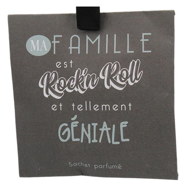 Lysse Côté Maison Sachet Parfumée Fleurs de Coton Ma Famille est Rock'n Roll 10g